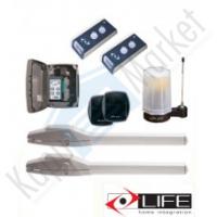 LIFE SETUP OP2 24 UNI DL DREAM kétszárnyú kapunyitó automatika szett