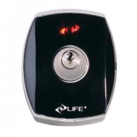 DES - Kulcsos kapcsoló. Normal zárral. Kültéri szereléshez. Alumínium házban