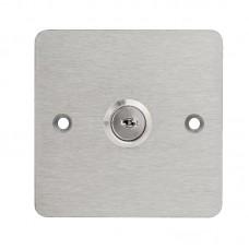 KSK-C-19-2NO2NC Háromállású kulcsos kapcsoló 86x86mm széles pajzzsal 2xNO/NC