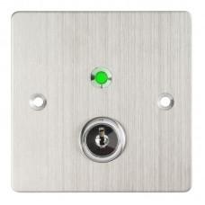 KY-B-SS-2-rdgn LED-es kétállású kulcsos kapcsoló 86x86 pajzzsal NO/NC - piros/zöld