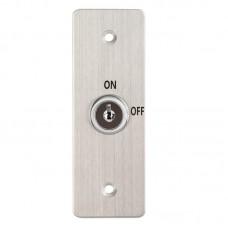 KY-C-SS-2 Kétállású kulcsos kapcsoló 115x40 pajzzsal NO/NC