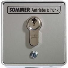 Sommer kulcsos kapcsoló (1 érintkezős, cilinderzárral, süllyesztett)