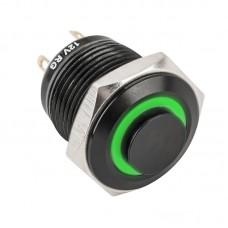 PB-16-NO-bk(LED)-rdgn Piros-zöld LED-es nyomógomb 16mm
