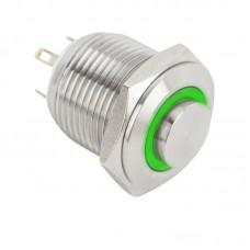 PB-16-NO(LED)-rdgn Piros-zöld LED-es nyomógomb LED-es - NO - 16mm - ezüst