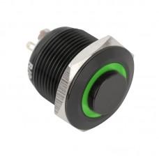 PB-19-NO-bk(LED)-rdgn Nyomógomb piros-zöld LED-es-N -19mm