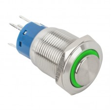 PB-19-NONC(LED)-rdgn Mikrokapcsolós nyomógomb LED NO/NC - 19mm - piros/zöld