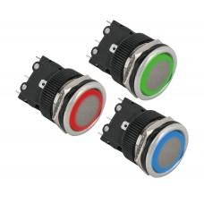 PBK-810A(LED) Süllyesztetten szerelhető nyomógomb gyűrűs LED világítással