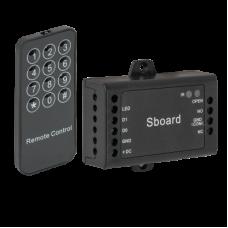 S-BOARD RFID vezérlő panel távirányítóval programozható