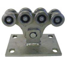 Görgőbak 8 csapágyazott kerékkel 70x60x3,5mm-es sínhez
