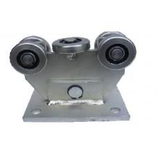 Görgőbak 51mm 4+1 csapágyazott kerékkel 60x60x4mm-es sínhez